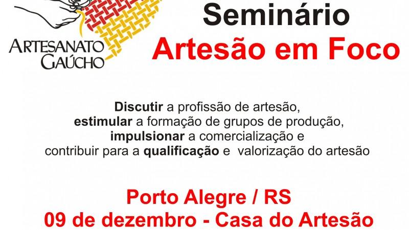 Aparador Pelos Masculino ~ Programa Gaúcho do Artesanato realiza seminário Artes u00e3o em Foco na próxima sexta feira em Porto
